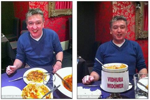 英國男子挑戰吃完地獄辣咖哩,出現幻覺。(圖片/取材自《每日郵報》)