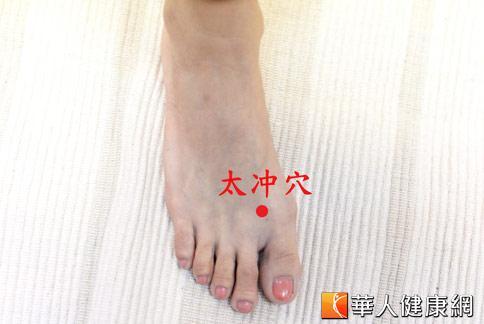 太沖穴:能夠治療一般的婦科疾病。(攝影/黃志文)
