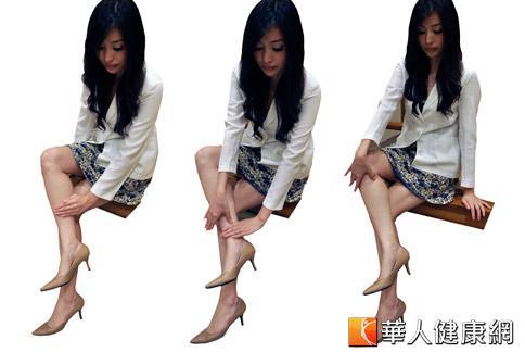 想要擁有令人稱羨的美腿,平常可多拍打經絡、按摩穴道消水腫。(攝影/黃子倫)