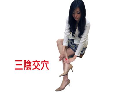 三陰交穴(攝影/黃子倫)