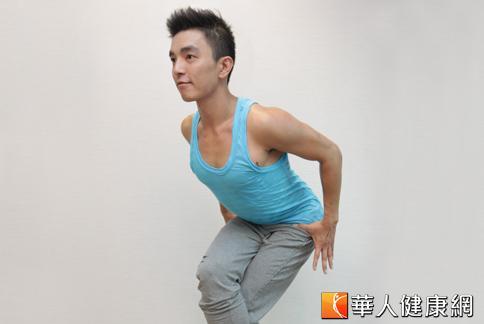 想要瘦大腿,Nick教練教你一招就可雕塑完美曲線。(攝影/黃志文)
