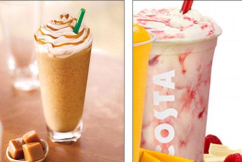 夏日來一杯冰沙雖然喝得暢快,卻要小心喝下不少糖分。(圖片/取材自英國《每日郵報》)