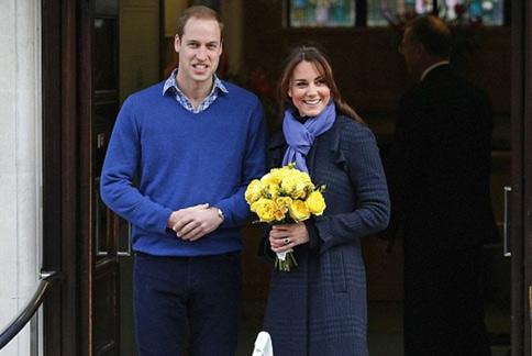 威廉王子在老婆凱特王妃生產期間全程陪同,凱特也順利產下英國的新科小王子。(圖片/取材自英國《每日郵報》)
