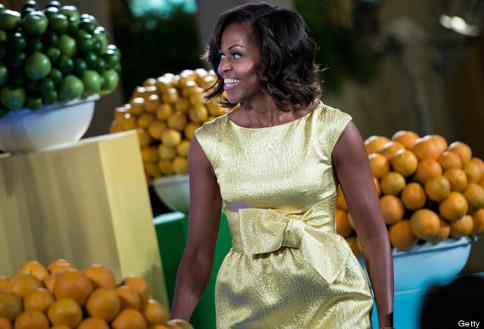蜜雪兒歐巴馬致力打擊兒童肥胖,注重飲食均衡與健康瘦身。(圖片/取材自美國《赫芬頓郵報》)