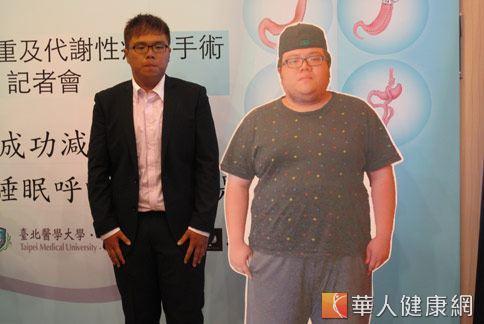 何先生以前143公斤,減重半年只剩104公斤,小胖哥變成了型男。(攝影/張世傑)