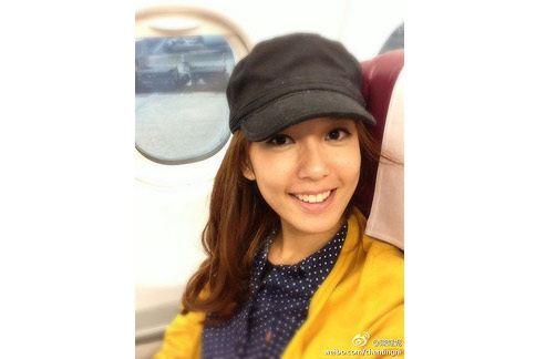 新生代女星陳庭妮喜歡白皙的肌膚,外出一定做好防曬。(圖片/陳庭妮之新浪微博)