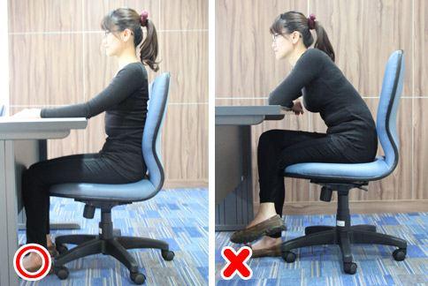 動作示範:坐姿。(圖片提供/大千綜合醫院)