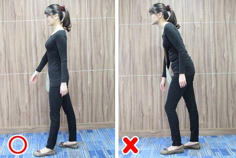 動作示範:走路姿勢。(圖片提供/大千綜合醫院)