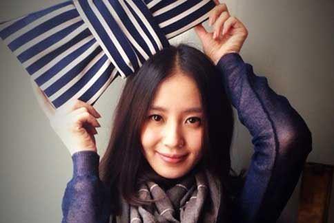氣質清新的劉詩詩,日前被某知名娛樂網站票選為「亞洲十美」第3名。(圖片/取材自劉詩詩微博)