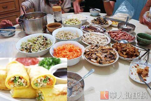 市售潤餅熱量高,國民健康署呼籲民眾在家DIY做健康潤餅。(圖片/華人健康網資料照片)