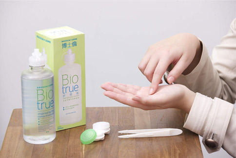 隱形眼鏡保養液應該以眼淚為概念,以滿足配戴者眼部的整體舒適度需求。(圖片提供/博士倫公司)