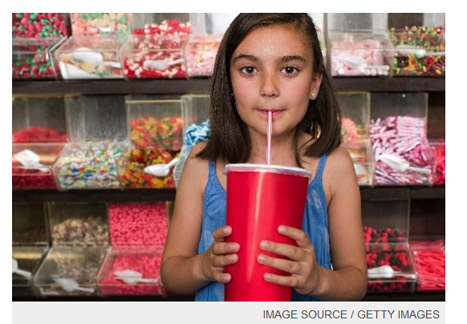 !青少年對於喝含糖飲料,已是習以為常的生活習慣,每天1杯看似熱量不高,長期下來卻是肥胖主因。(圖片/取材自美國《時代TIME雜誌》)